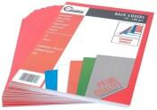 Rückenblätter 100 Stück Chromo DIN A4 rot Stärke 250 g/qm
