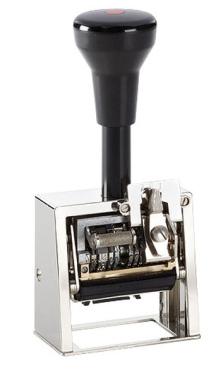 Numeroteur Modell DN41a mit Datum und Textplatte (Zs 5 | Zg 4)