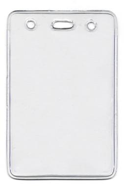 Ausweistaschen RECOsystems Einstecktaschen ca. 69 x 105 mm transparent - 100 Stück