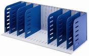 Sortierablage Sortiereinheit mit 8 Trennwänden senkrecht, grau-blau