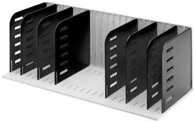 Sortierablage Sortiereinheit mit 8 Trennwänden senkrecht, grau-schwarz
