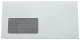 1.000 Kuvertierhüllen - ASK C6/5 - 114x229 mm - Kuvert mit Fenster - Zahlenmeer Innendruck - blickdicht