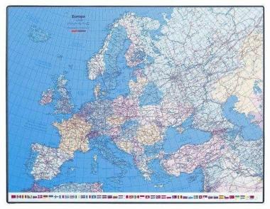 Schreibunterlage 650 x 500 mm GeoPad Europa deutsch homeoffice Schreibtischauflage