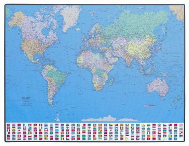 Schreibunterlage 650 x 500 mm GeoPad Welt englisch homeoffice
