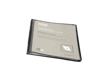 Sichtbuch schwarz mit 10 DIN A4 Hüllen