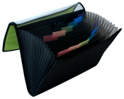 Fächermappe apfelgrün schwarz Schreibmappe...
