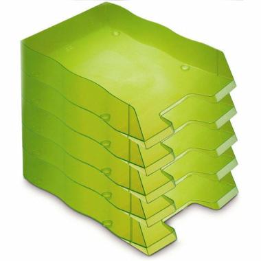 Briefablage homeoffice  styrofile C4 grün Ablagebox 5 Stück