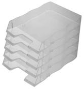 Briefablage homeoffice styrofile C4 rauchgrau Ablagebox 5 Stück
