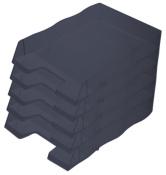 Briefablage homeoffice  styrofile C4 schwarz Ablagebox 5 Stück