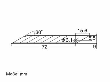 Cuttermesser Klingen BAD 21 P für NT Cutter A 1 P - 10 Stück