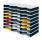 Ablagestystem styrodoc trio Grundeinheit STANDARD mit 24 Fächer grau-schwarz