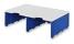 Erweiterungset für styrodoc duo Aufbaueinheit JUMBO mit 2 Fächer grau-blau