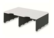 Erweiterungset für styrodoc duo Aufbaueinheit JUMBO mit 2 Fächer grau-schwarz