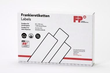 Frankierstreifen 1.000 Stück für PostBase Streifengeber, 60x159 mm, weiss