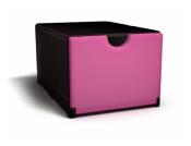 Plusbox schwarz- magenta