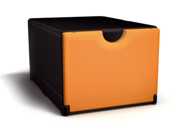 Plusbox schwarz-orange