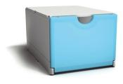 Plusbox weiß-hellblau