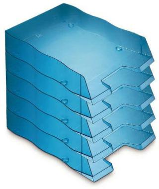 Briefablage homeoffice  styrofile C4 blau Ablagebox 5 Stück