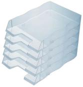 Briefablage homeoffice styrofile C4 transparent Ablagebox Ablagefach 5 Stück