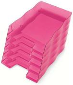 Briefablage homeoffice  styrofile C4 himbeer Ablagebox 5 Stück