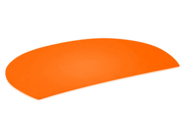 Schreibunterlage orange halbrund abwaschbar Schreibtischauflage