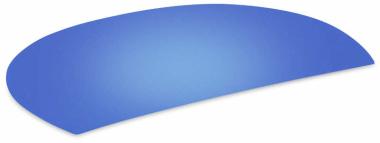 Schreibunterlage blau halbrund abwaschbar Schreibtischauflage
