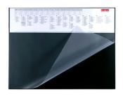 Schreibunterlage 650 x 500 mm mit Kalenderstreifen homeoffice Schreibtischunterlage