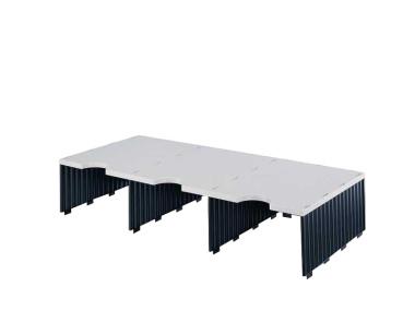 Erweiterungset für styrodoc trio Aufbaueinheit JUMBO mit 3 Fächer grau-schwarz