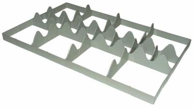 Facheinteilung für Euronorm Box 2 x 4 Fächer