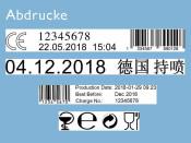 Kennzeichnungsstempel MHD Reiner jetStamp 940 mit Tinte P3-S-BK mit Koffer