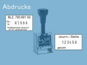 Numeroteur Modell D28bN mit Textplatte (Zs 6 | Zg 4) Komplettpreis