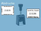 Datumstempel Modell D280 mit Textplatte (Zg 4)