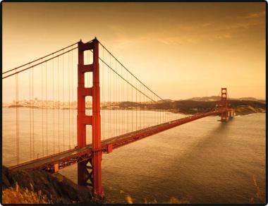 Schreibunterlage 650 x 500 mm Golden Gate Bridge Schreibtischunterlage
