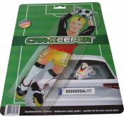 Keeper Torwart Fußball für Scheibenwischer Auto Heckscheibe