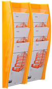 Wandprospekthalter styrodisplay DIN A4 2er Set orange