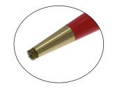 Radier Schleif Stift mit vernickelter Metallspitze Messingdrahtpinsel 4 x 45 mm