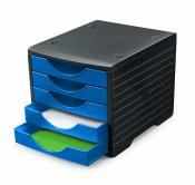 Ablagesystem styrogreen 5 Schub. Schwarz blau Ablagebox...