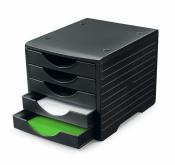 Ablagesystem styrogreen 5 Schub. schwarz Ablagebox...