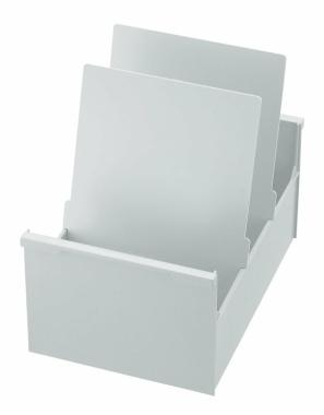 Karteikasten  DIN A4 hoch, grau