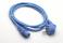 Kaltgerätekabel blau gewinkelt Netzkabel Kabel Anschlußkabel Stromkabel