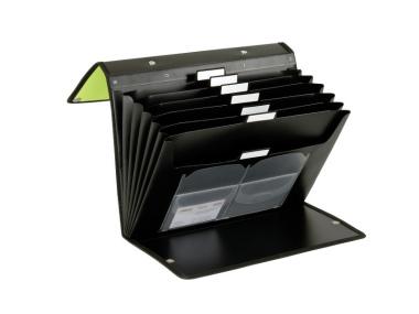 Fächermappe 3 Way Flip File Präsentationsmappe apfelgrün schwarz