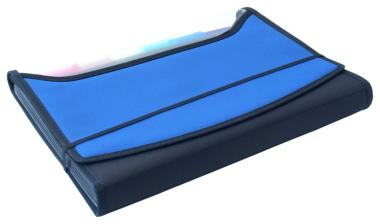 Fächermappen 2 Stück royalblau schwarz Angebotsmappen Schreibmappen