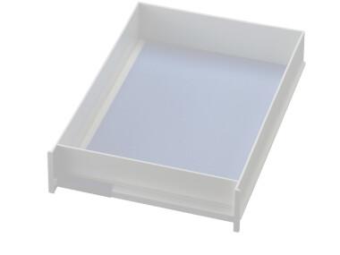 Schublade für Ablagen-Box Typ 16003, A4 weiss, Vorderseite geschlossen