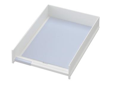 Schublade für Ablagen-Box Typ 16004, A4 weiss, Vorderseite offen