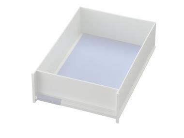 Schublade für Ablagen-Box Typ 16005, A4 weiss, Vorderseite geschlossen