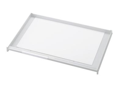 Schublade für Ablagen-Box Typ 16006, A3 weiss, Vorderseite geschlossen