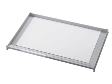 Schublade für Ablagen-Box Typ 16005, A3 grau, Vorderseite geschlossen