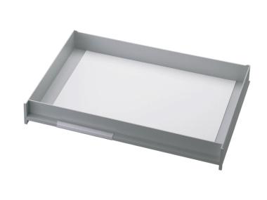 Schublade für Ablagen-Box Typ 16007, A3 grau, Vorderseite geschlossen