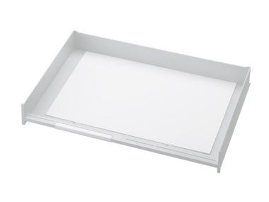 Schublade für Ablagen-Box Typ 16002, A3 weiss, Vorderseite offen