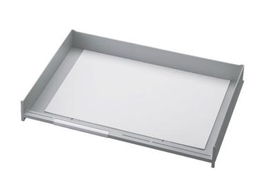 Schublade für Ablagen-Box Typ 16002, A3 grau, Vorderseite offen